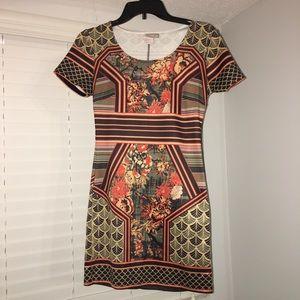 Forever21 Fall Style Aztec Mini Dress NWOT XS